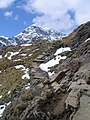 A walk up the Pyg track - approaching the snow line - geograph.org.uk - 772432.jpg