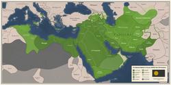Abbasidisches Kalifat, Unterabteilungen und verbundene Unternehmen in größtem Umfang unter al-Mutawakkil, um 233/234 Hijri, 849 Gregorian