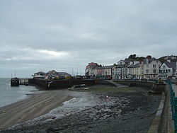 Aberdyfi river on a cloudy day