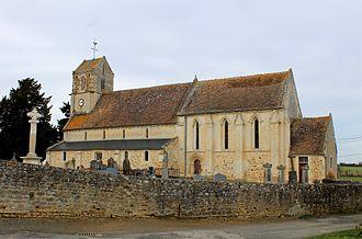 Acqueville, Calvados - Church of Saint Aubin