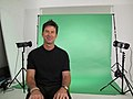 Actor Joe Flanigan in the studio of public artist Martin Firrell.jpg