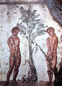 Early Christian depiction of Adam and eve (Wiki)