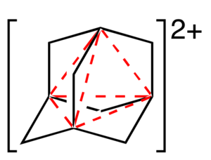 Four-center two-electron bond - Image: Adamantane dication delocalization