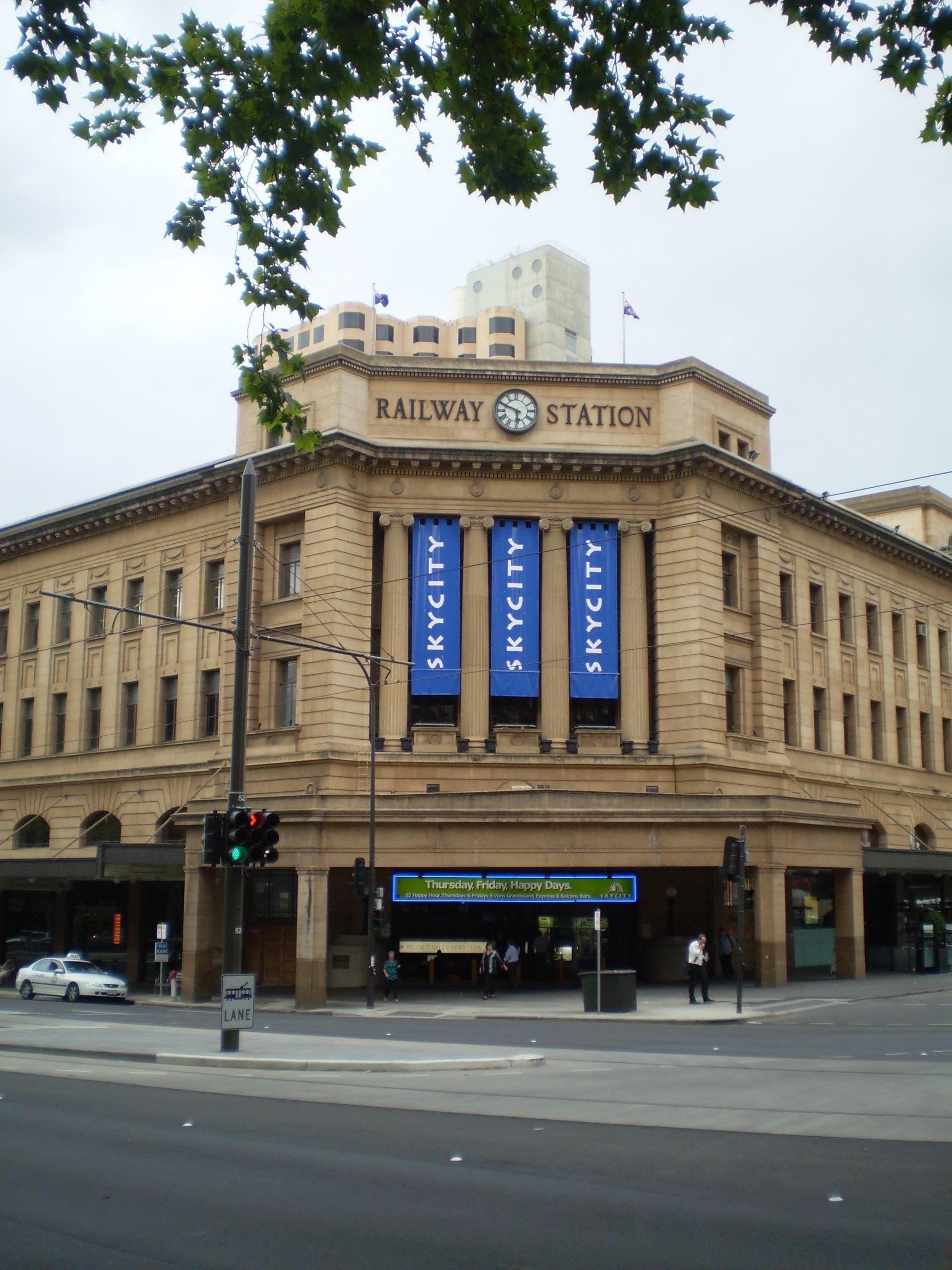 Adelaide Casino Menu
