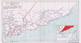 Aden Protectorate - Official map of the Aden Protectorate, 1948