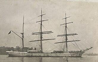 Alf (barque) - Image: Adolph Harboe (ship, 1876) SLV H99.220 4115