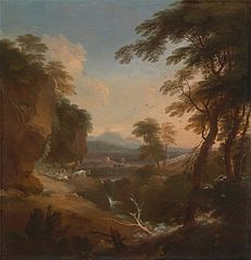 Landscape with Distant Mountain