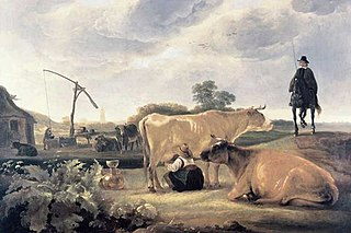 Landscape with Cattle and Milkmaid