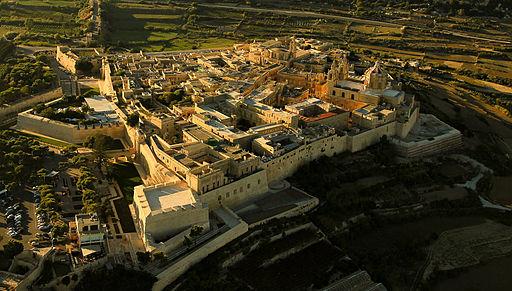 Aerial view Mdina, Malta