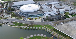 Von Braun Center - Aerial view of complex (c.2016)