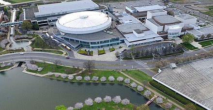 Von Braun Center in Huntsville Aerial view of Von Braun Center.jpg