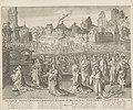 Afgoderij van Salomo Salomon ab uxoribus persuasus, sequebatur Astaroth et Milcom, idola Zidoniorum et Ammonitarum (titel op object) Royaalbijbel (serietitel), RP-P-OB-16.179.jpg