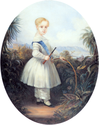 Afonso, Prince Imperial of Brazil - Afonso at age 2 wearing the blue band of the Order of the Southern Cross, 1846