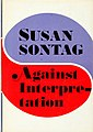 Against Interpretation (1966 1st ed dust jacket cover).jpg