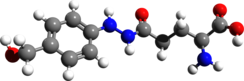 Ball and stick model of agaritine ((2S)-2-amino)