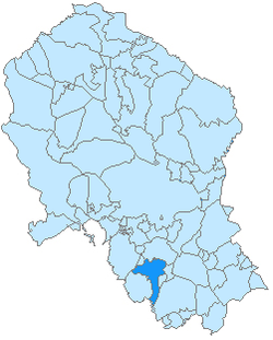 Location of Aguilar de la Frontera in the province of Córdoba.