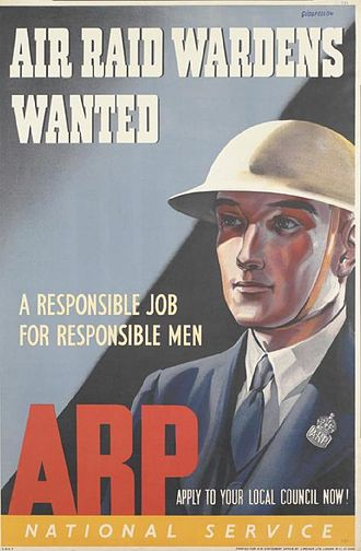 Air Raid Precautions in the United Kingdom - Recruitment poster for Air Raid Wardens