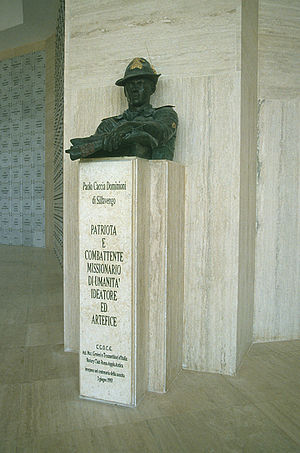 Paolo Caccia Dominioni - The bust of Paolo Caccia Dominioni at the Italian War Memorial, El Alamein, Egypt