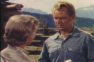 Alan Ladd - Jean Arthur and Ladd in Shane (1953)