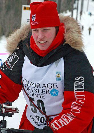 Aliy Zirkle - Aliy Zirkle during the ceremonial start of the 2010 Iditarod.