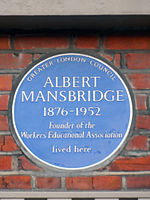 Albert Mansbridge Blue Plaque.JPG