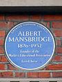 Albert Mansbridge Blue Plaque.JPG