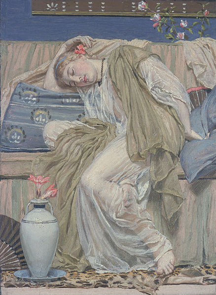 File:Albert Moore - A Sleeping Girl - Google Art Project.jpg