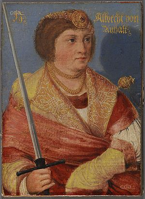 Albert III, Duke of Saxe-Wittenberg - Image: Albrecht III., Elector, son of Wenzeslaus, died 1422 (AT KHM GG4791)