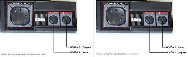Manettes stylisées de la console.