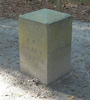 National Register of Historic Places listings in Charleston County, South Carolina - Image: Alexander Bache Survey Line W marker 4