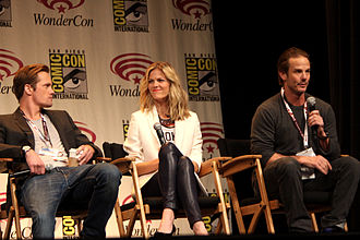 Battleship (film) - Alexander Skarsgard, Brooklyn Decker and Peter Berg promoting the film at WonderCon 2012.
