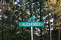 Alexander at 229th street sign - Hillsboro, Oregon.JPG