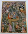 Alexander the Great in a tree pavilion, folio from Haft Awrang (Seven Thrones) by Jami, India, 1610-1620 AD, watercolour and gold on paper - Aga Khan Museum - Toronto, Canada - DSC07062.jpg
