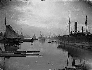 Alexandra Docks looking South, Newport.