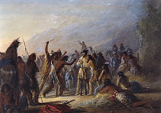 William Drummond Stewart - Image: Alfred Jacob Miller Attack by Crow Indians Walters 371940179