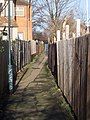 Alleyway - LNER Club - geograph.org.uk - 312557.jpg