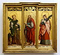 Altarpiece wings, St. Catherine, St. Agnes, and St. Paul, by the Meister von Messkirch, c. 1520-1530, spruce wood - Bode-Museum - DSC03286.JPG