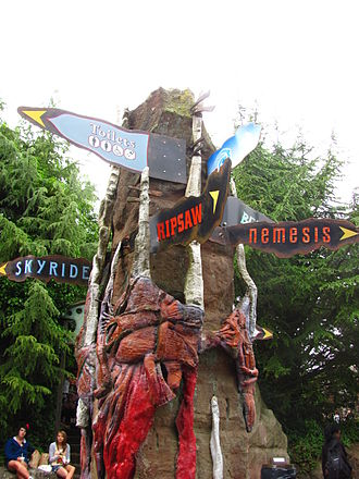 Alton Towers - Theming and signs in Forbidden Valley