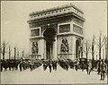 American military band marching through Arc de Triomphe in Paris.jpg