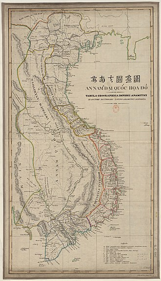 Map of the An Nam Empire by Jean-Louis Taberd An Nam Dai Quoc Hoa Do by Jean Louis Taberd 1838.jpg