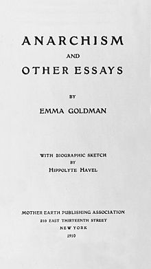 emma goldman anarchism and other essays citation