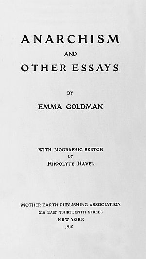 Anarchism and Other Essays cover