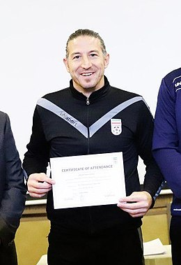 Andranik Teymourian in Asian B degree coaching Classes, Tehran, December 2019 (cropped).jpg