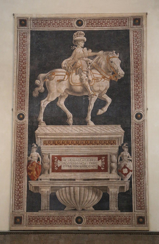 Andrea del Castagno Fresco Niccolo da Tolentino Dom Florenz-01