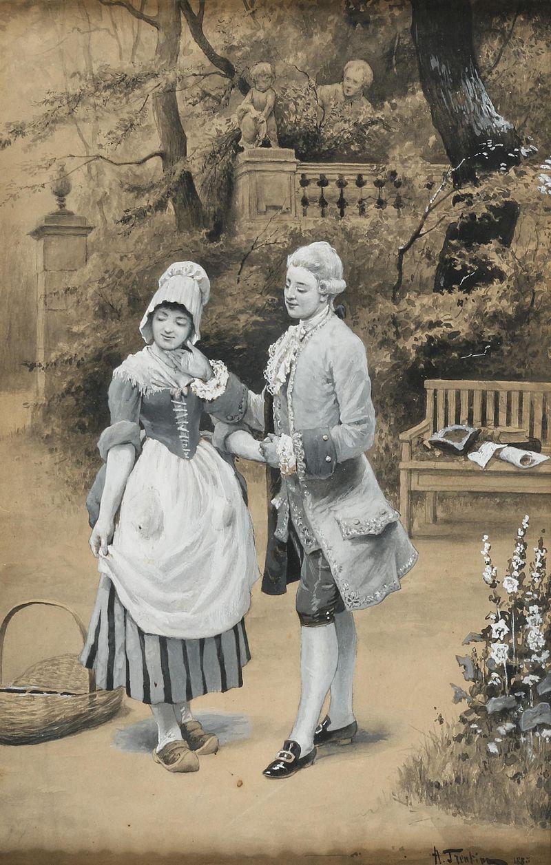 Angelo Trentin Galantes Paar im Park 1885.jpg
