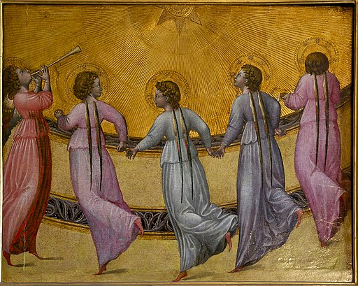 Angels dancing sun Giovanni di Paolo Condé Chantilly