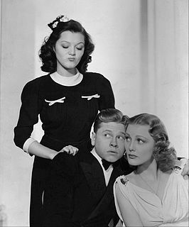 Ann Rutherford, Mickey Rooney en Virginia Grey in The Hardys Ride High (1939)