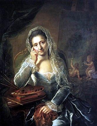 Anna Rosina de Gasc - Self-portrait of Anna Rosina de Gasc, 1767