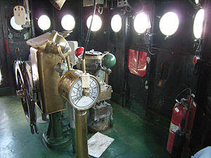 Engine order telegraph - USS LST-325's bridge engine order telegraph