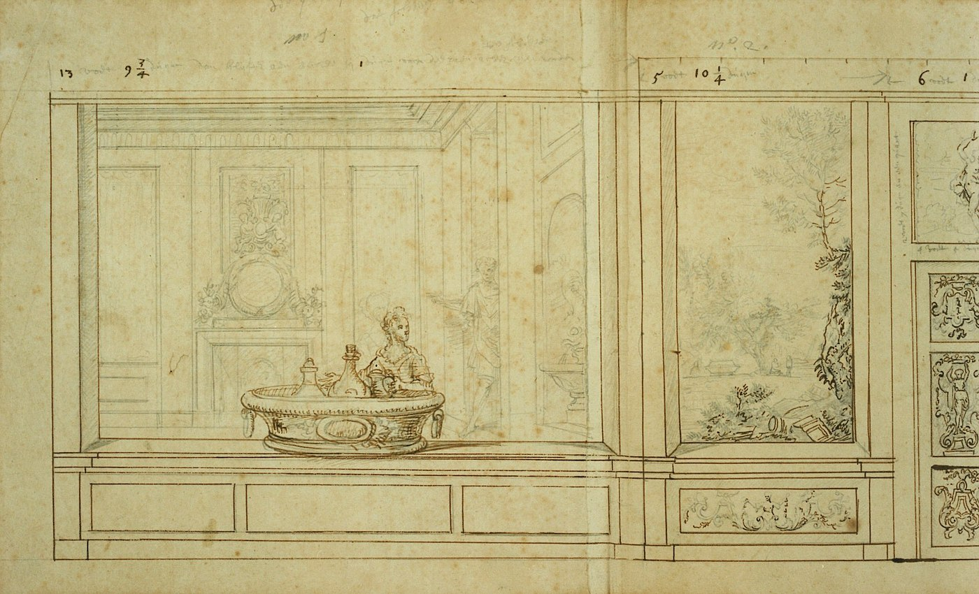 Design for the decoration of a large salon